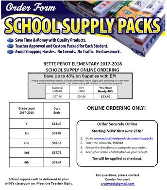 Supply Pack Orders