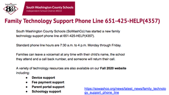 Family Technology Support Phone Line