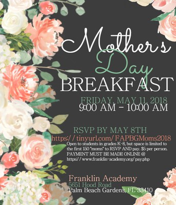 Mother's Day Breakfast-RSVP ASAP