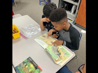 We love reading with second grade buddies!