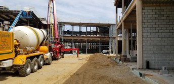 The future cafeteria & courtyard