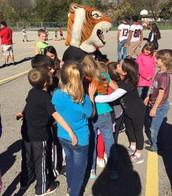 Tiger Spirit at Ellis Recess!
