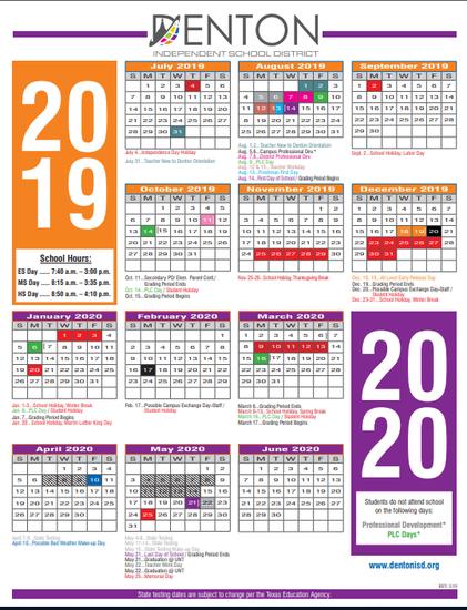 Denton Isd Calendar 2020 Harpool Herd | Smore Newsletters for Education