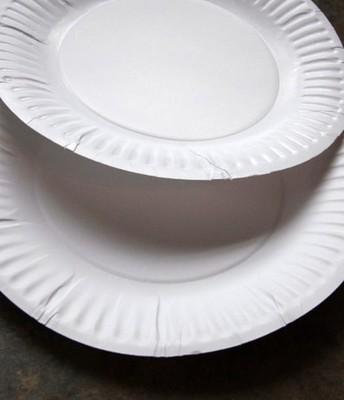 1. Use dos platos blanco de papel