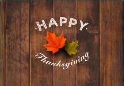 Thanksgiving Break 23rd-27th