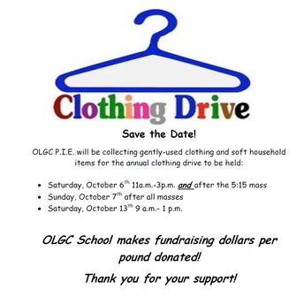 2018 Clothing Drive sponsored by P.I.E.