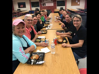 MHS Staff Enjoying School Lunch
