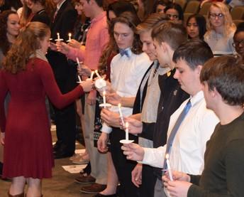 Students Inducted into The National Honor Society