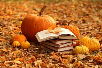 Pumpkins, scarecrows and books, oh my!