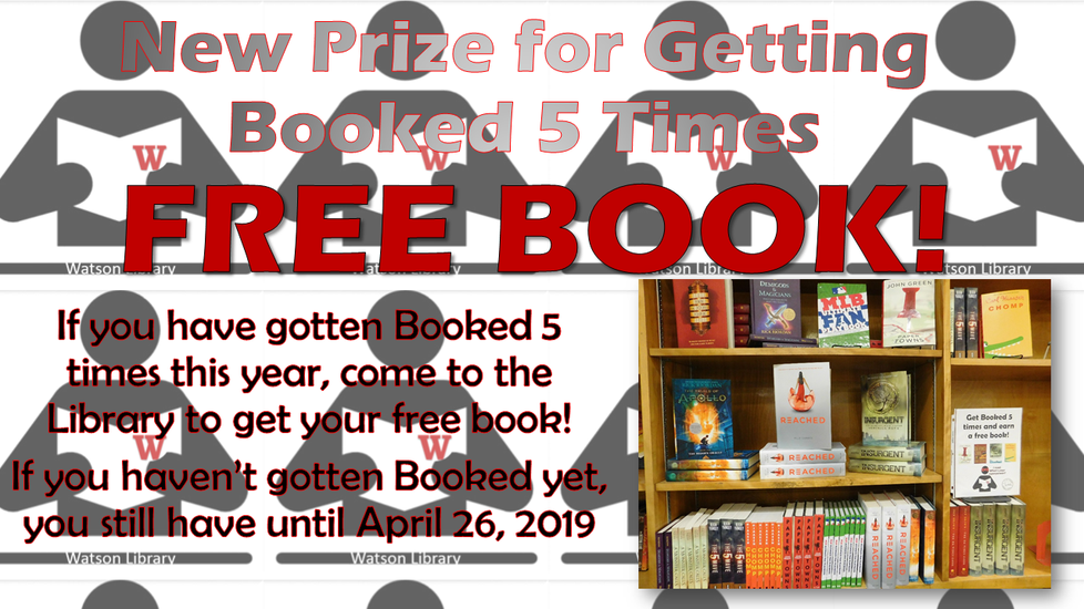 Get Booked 5 times for a free book!