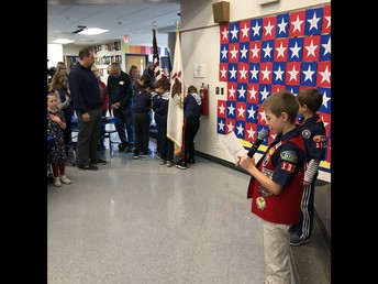 Boy Scout Color Guard at Veterans Breakfast