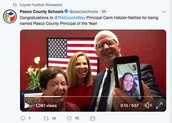 Congratulations to Mrs. Hetzler-Nettles!!