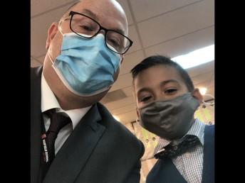 Fancy Day for Mr. Elliott and Daniel Jimenz