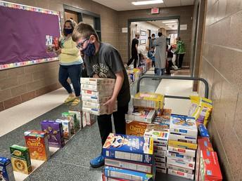Bennett Cereal Box Donation Drive