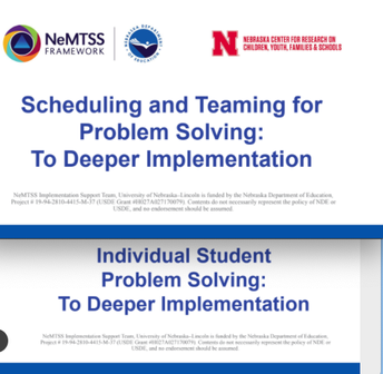 NeMTSS Problem Solving Self-Paced Modules