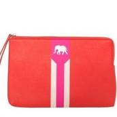 Elephant Capri pouch/clutch