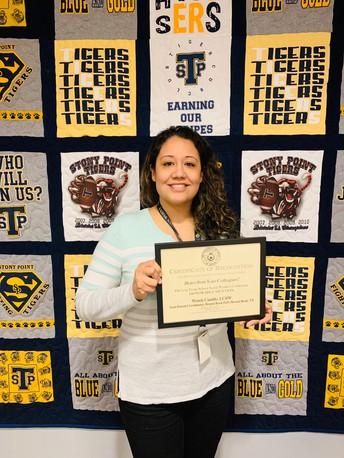Congratulation to Mrs. Wendy Castillo!