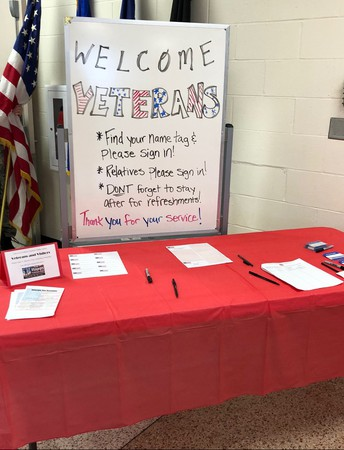 Veteran's Day welcome sign