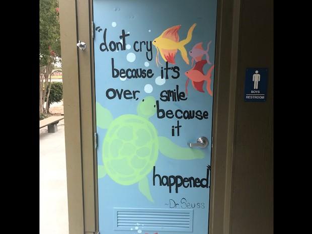 Mural on Bathroom Door