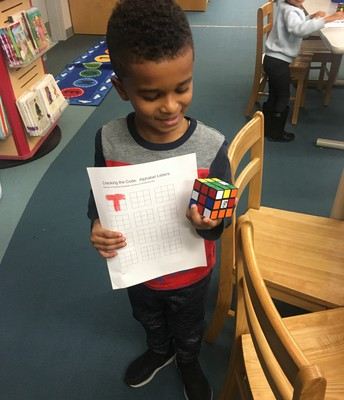 Makerspace Madness in the Library with Rubik's Cube!