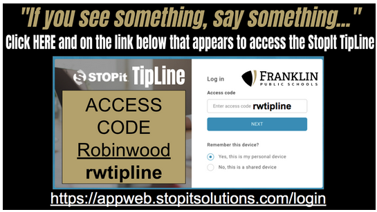 RW Tip information for the tipline