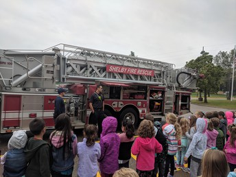 Shelby Township Fire Truck Visit