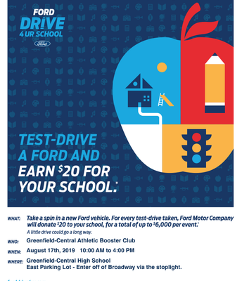 Test Drive = Support GCHS Athletics