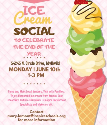 Inspire's End of Year Ice Cream Social in IDYLLWILD