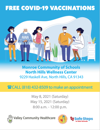 Free Vaccine for Families in the Monroe Community of Schools