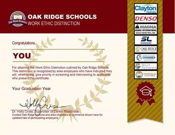 Seniors - Time to Start Earning your Work Ethic Distinction