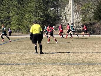 Girls Soccer in Action