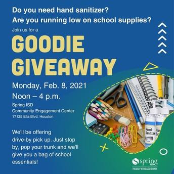 Hand Sanitizer & School Supply Giveaway