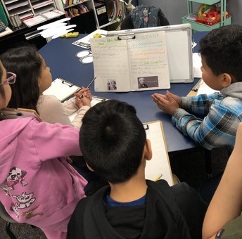 Mrs. Perez's class learns about historical figures
