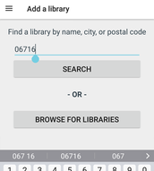 Type in your zip code, city, or the name of your library.