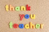 Teacher Appreciation Week Sign-Ups