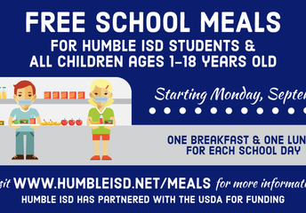 Free school meals for ALL Humble ISD students through December 18