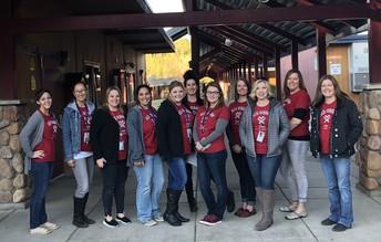Wear Red Day! Just a few of our awesome staff!     ¡Lleve el día rojo! ¡Solo algunos de nuestros increíbles empleados!