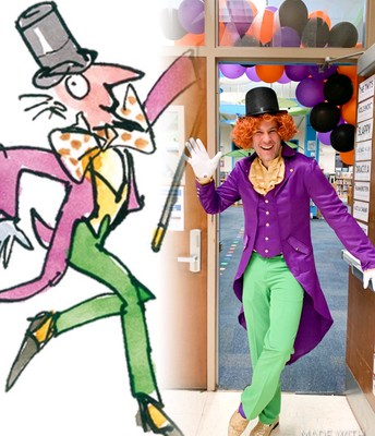 Mr. Rawls as Willy Wonka