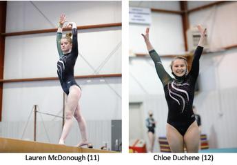 McDonough & Duchene Qualify For State Gymnastics Meet
