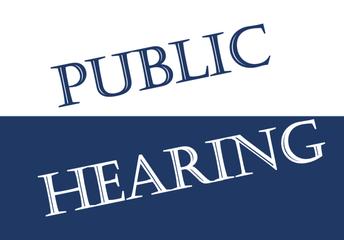Upcoming Public Hearings