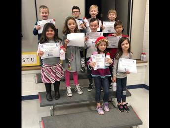 First Grade doing their BEST!