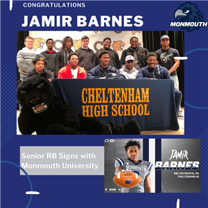 Jamir Barnes Signs National Letter of Intent to Play Football at Monmouth
