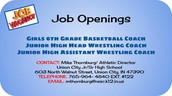 Coaching Positions Open