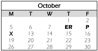 CCS October Calendar