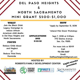 Del Paso Heights Mini Grants