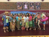 Teachers participating in spirit week.