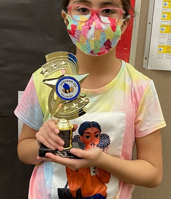 Carroll Wins 3rd place in District Spelling Bee