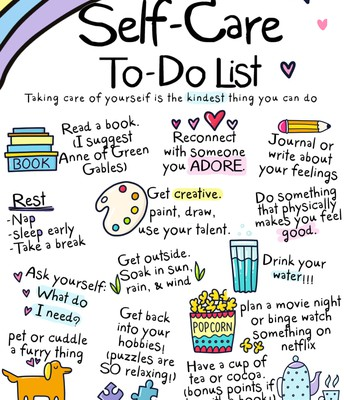 Lots of self-care ideas!
