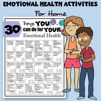 Emotional Health Activities