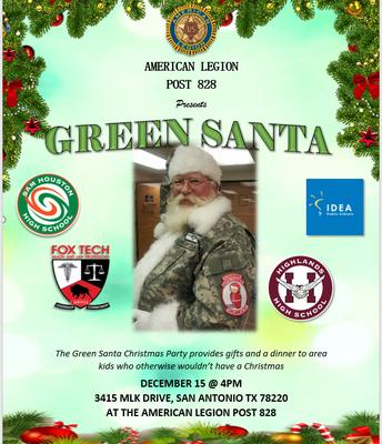 Green Santa - American Legion #828